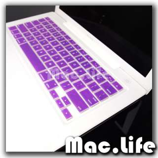 PURPLE soft Keyboard Skin Cover for OLD Macbook 13