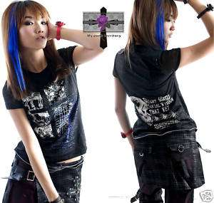 Casual Rock Visual Kei Destroy Gothic Skull Revenge Top
