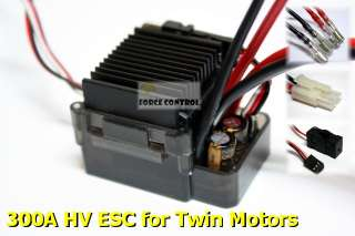 300A Brushed HV ESC Twin Motor 18/10 RC Auto Rock Crawler Buggy Car