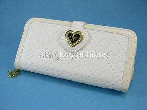 Cream/Ivory Bills/Credit Cards Purse Wallet Heart