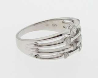 Genuine Diamonds Solid 14k White Gold Band Ring
