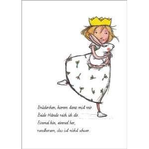 Im 5er Set Kinder Geschenkkarte zum Mitmachen mit Prinzessin und Hase