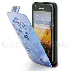 Butterfly/Flower Luxury Leather Flip Case Cover for Samsung i9100