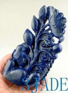 Genuine Lapis Lazuli Carving/Sculpture Dragon Fish