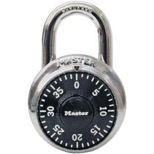 Master Lock Preset Dial Combination Padlock w/ 3/4 Hardened Steel