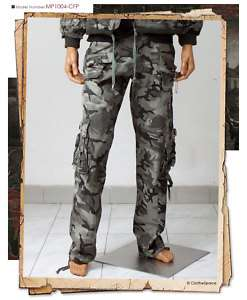 ClotheSpace Mens Cool Military Style Cargo Pants W34