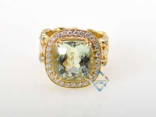 Doris Panos 18K Yellow Gold Diamond Beryl Ring