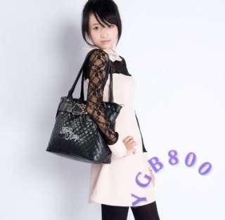 Fashion Hello Kitty Multi Color Optional Leather Like Tote Hand Bag