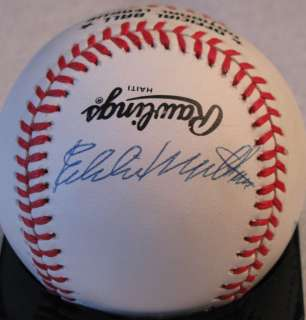 HANK AARON EDDIE MATHEWS SIGNED AUTOGRAPHED PSA DNA BASEBALL AUTO 9305