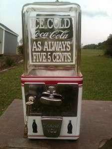 Vintage Atlas Master *Coca Cola* Gumball Candy Peanut machine man cave