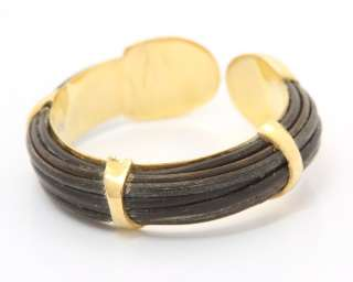 Damen Designer Gold Ring Elefantenhaar Elephantenhaar Elefant Elephant
