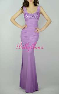 Luxury Prom Party Evening Gown Bridesmaid Maxi Long Stretch Dress