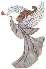 Stained Glass Pattern   ANGEL WITH TRUMPET (60006)