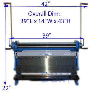 30 Shear Press Brake Slip Roll Roller 20 Gauge Sheet Metal Finger