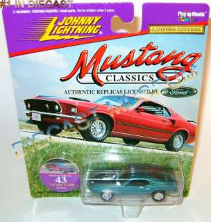 1969 69 FORD MUSTANG MACH 1 TEAL CLASSICS DIECAST JL JOHNNY LIGHTNING