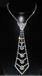 Lots 12S Size S Stunning Rhinestone Lady Necklace Tie