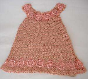 NEW ORIGINAL RAYON HAND KNITTED CROCHET CHILD DRESS