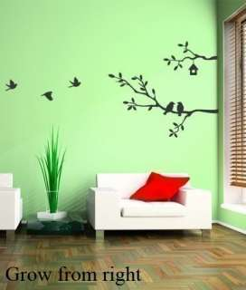 WALL HOME DECOR ART MURAL VINYL QUOTE STICKER TREE BIRD