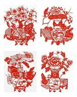Chinese Folk Art Silhouettes Paper Cut Polite Arts