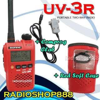 RED * BAOFENG UV 3R DUAL BAND 136 174 400 470 RADIO
