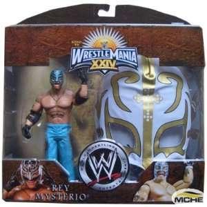 Rey Mysterio Exclsuive Figur mit weiß goldener Maske   WWE: .de