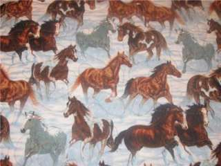 Handcrafted Table Runner Horses Western Cowboy Decor