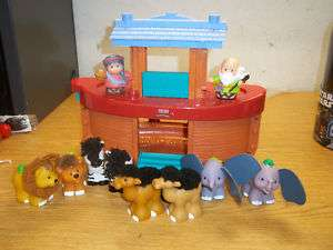 FISHER PRICE LITTLE PEOPLE NOAHS ARK ANIMALS NOAH WIFE6