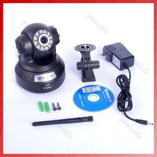 IR Cut Wireless WiFi Audio TF Card Night Vision IP Camera Black