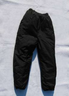 WINDBREAKER Black Snow Ski Pants, Youth M 10   12