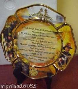 Bradford Firemans Plate Guardian Angel Bless Heroes