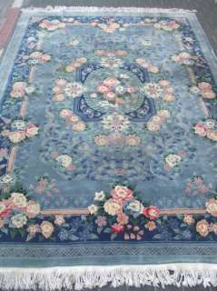 Beautiful hand woven art deco Chinese Antiques Carpet rug 307x214 cm