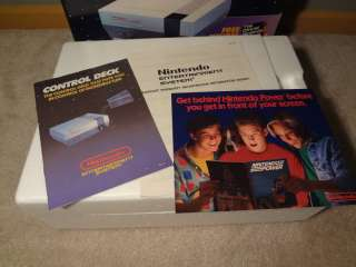 NINTENDO NES ENTERTAINMENT SYSTEM CONTROL DECK CONSOLE IN BOX