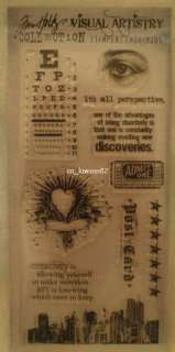 Tim Holtz Clear Stamps CITY CENTRAL Visual Artistry Stampers Anonymous