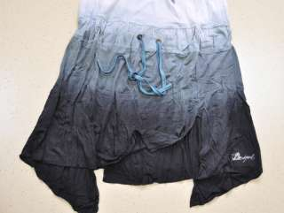 Fashion Desigual Womens ROUND COLLAR SLEEVELESS blue DRESS SIZE L XL