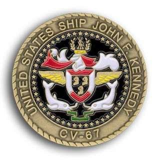 USS JOHN F. KENNEDY CV 67 CARRIER Challenge Coin