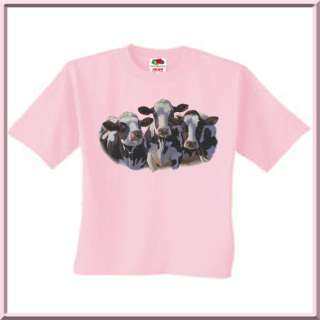Marris Dairy Queens Holstein Cows T Shirt Kids 2T 14