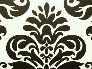 Retro Barock Lounge Tapete 266917 schwarz weiss