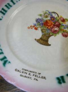 Antique Advertising Plate   Merry Christmas and Happy New Year