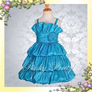 Wedding Flower Girls Toddles Pageant Party Dresses Size 2T 9 141BL