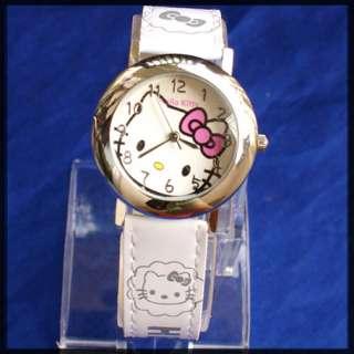 SET Hello Kitty Katze Armbanduhr Uhr + Ohrstecker  NEU
