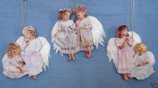 Set of 3 Celestial Companions ANGEL Christmas Ornaments