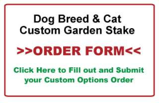 Custom Dog Breed Garden Stake, Pet Memorial, Personalized Sign, Garden