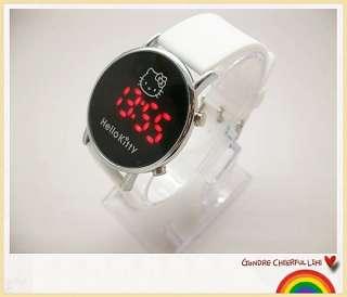 Nice HelloKitty Digital LED watches for Girls women children jelly