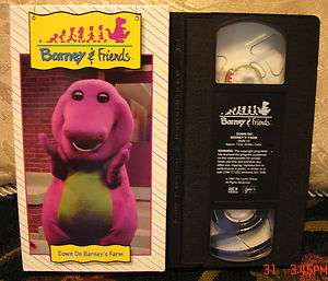 BARNEY TIME LIFE Down On Barneys Farm OOP RARE Video Vhs FREE US