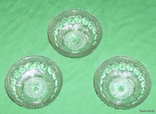 Set of 3 Vintage Clear Glass Bubble Design Bowls