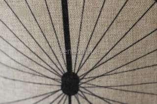 linen balck bicycle / bike design pillow cover / simple cushion case