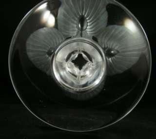 Beautiful Lalique Virginia Peacock Vase MSRP $2680.