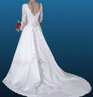 Long Sleeve Wedding Bridesmaid/Evening/Prom Dress/Gown