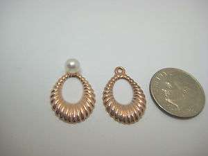 SOLID 14K PINK ROSE GOLD EARRING JACKETS FOR STUDS 208
