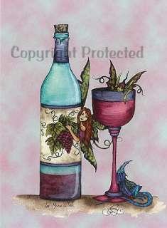 Too Much Wine Amy Brown Fairies 5X7 Fairy Art Card